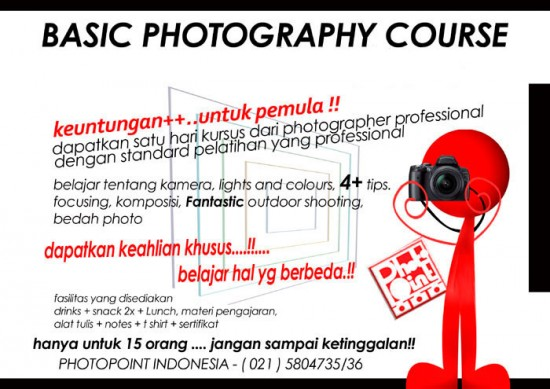 WS-PHOTOPOINT(Jakarta) : Basic Photography Course, 31 March 2012