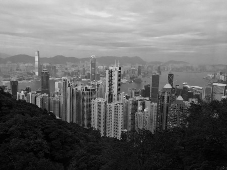 Central Hongkong in monochrome