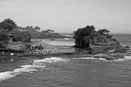 Tanah Lot in BW