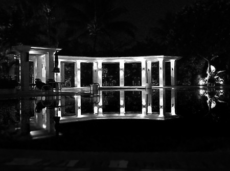 Pool Reflection BW